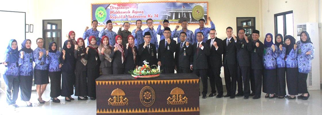 Perayaan HUT M A RI ke 74 Pada PTUN Bandar Lampung