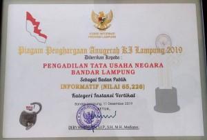 PIAGAM PENGHARGAAN KI PROV LAMPUNG 2019