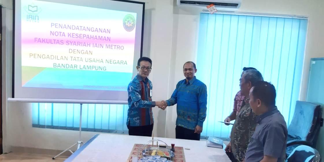 PTUN Bandar Lampung dan Fakultas Syariah IAIN Metro Jalin Kerjasama