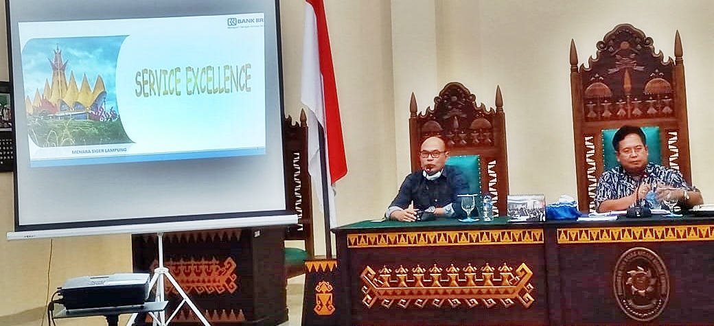 Sosialisasi Pelayanan Prima Pengadilan Tata Usaha Negara Bandar Lampung bersama Bank BRI Kanwil Bandar Lampung