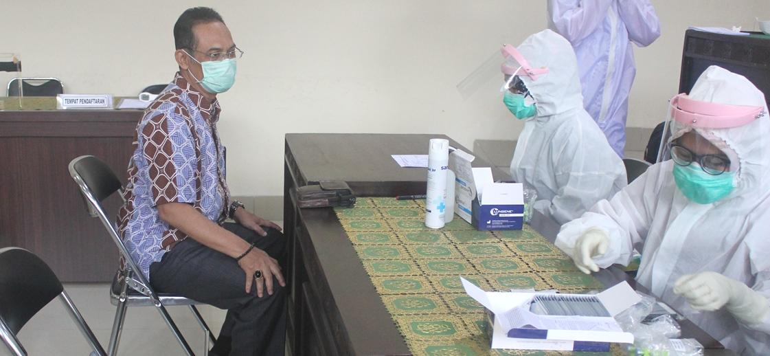 Pengadilan Tata Usaha Negara Bandar Lampung Melaksanakan Rapid Test