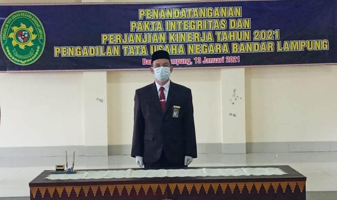 Penandatanganan Fakta Integritas PTUN Bandar Lampung Tahun 2021